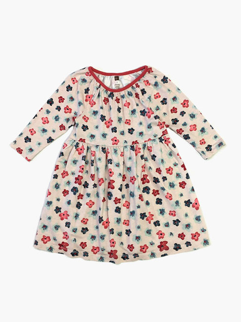 Coral Flowers Dress, Little Girls
