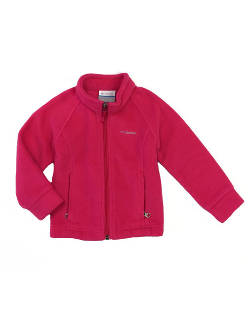 Bright Pink Fleece Jacket, Toddler Girls