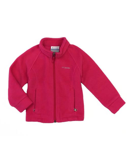 Bright Pink Fleece Jacket, Toddler Girls