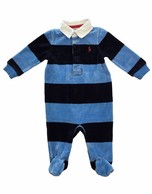 Rugby Velour Coverall, Baby Boys