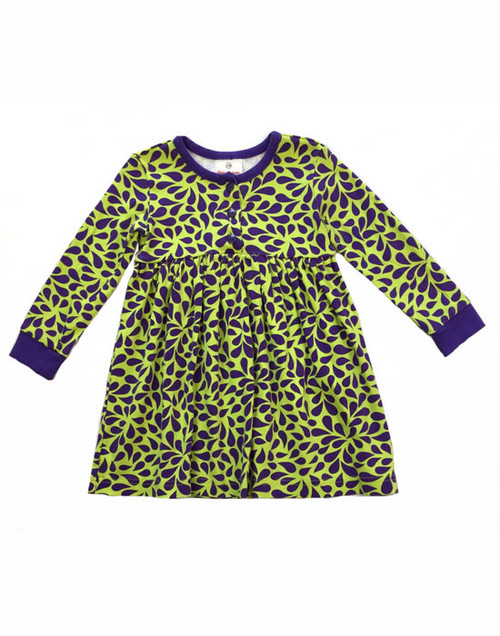 Purple Green Dress, Toddler Girls