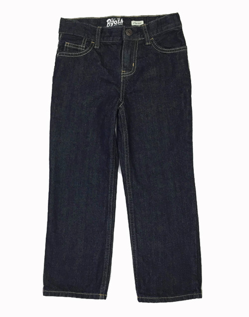 Straight Dark Denim Jeans, Little Boys