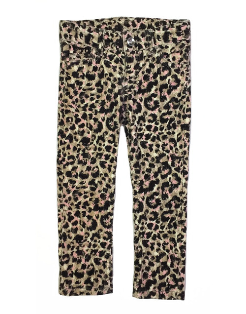 Pink Leopard Corduroy Pants, Toddler Girls