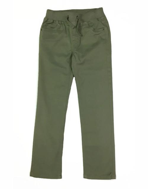 Green Twill Pants, Little Boys