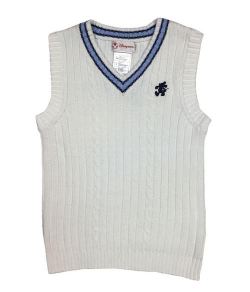 White V-Neck Sweater Vest, Little Boys