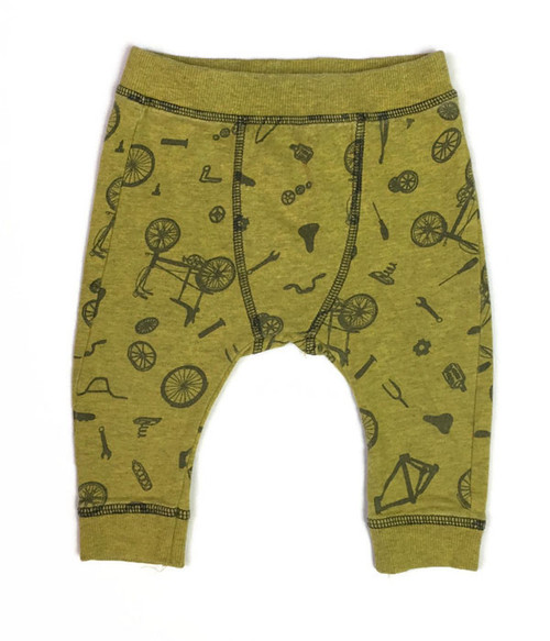 Bicycle Print Jogger Pants, Baby Boy
