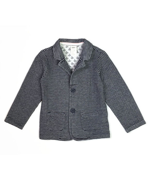 Nautical Striped Jersey Blazer, Baby Boys