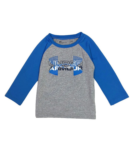 Blue & Gray Raglan Shirt, Baby Boys