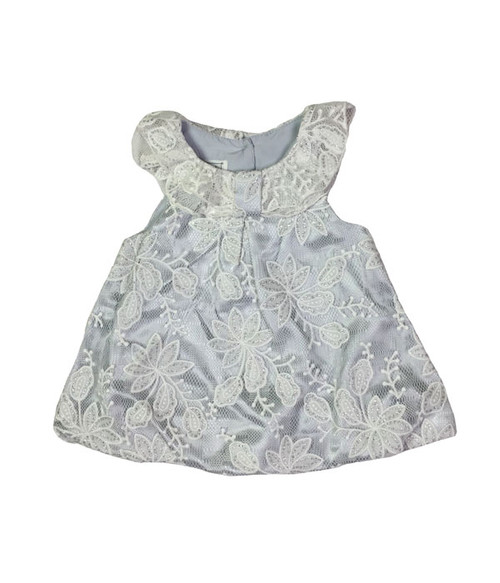 Gray Sparkly Lace Top, Baby Girls