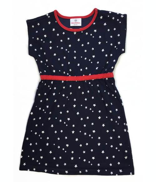 Red White & Blue Stars Dress, Little Girls