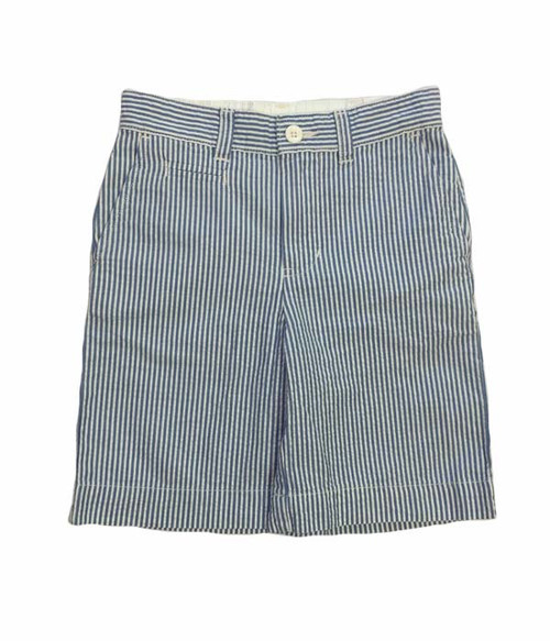 White & Blue Seersucker Shorts, Toddler Boys