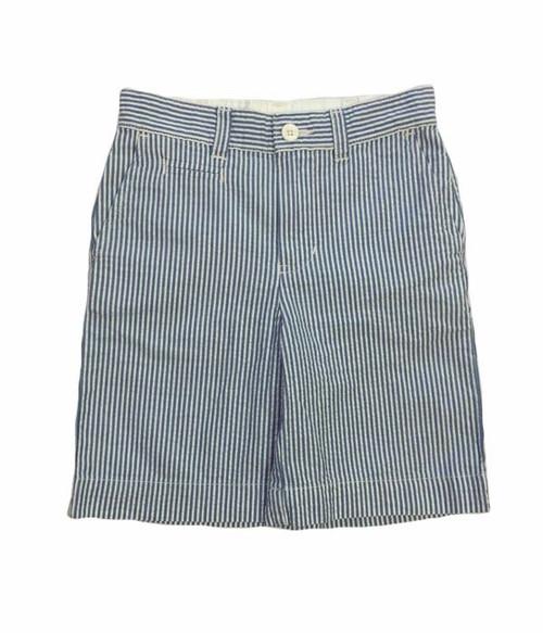 White & Blue Seersucker Shorts, Toddler Boys