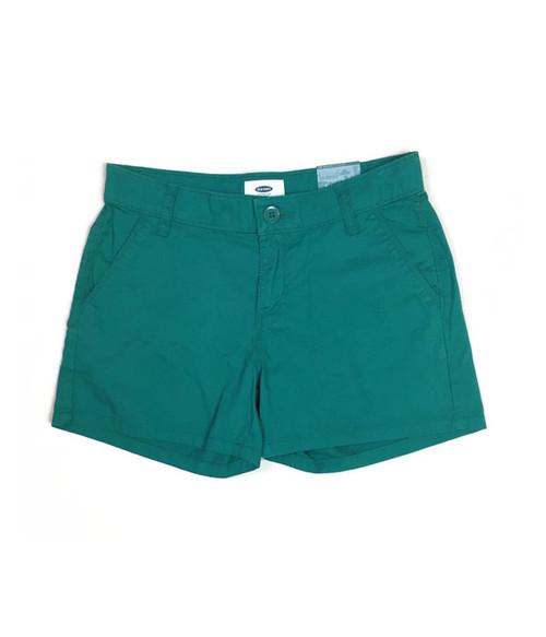 Green Chino Shorts, Big Girls