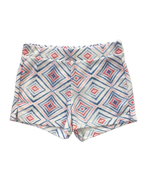 Multi-color Geo Printed Shorts, Big Girls