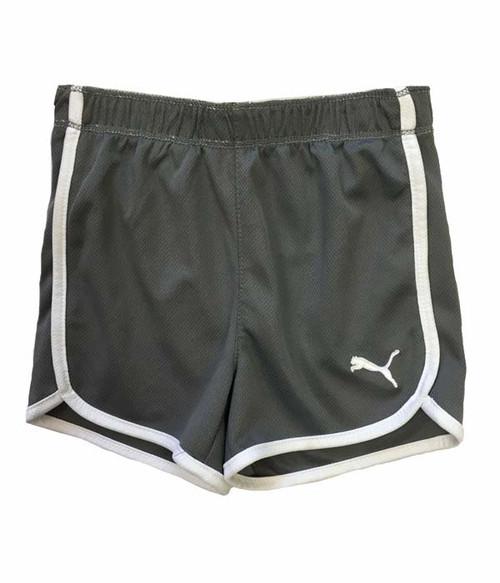 Gray Active Mesh Shorts, Todder Girls