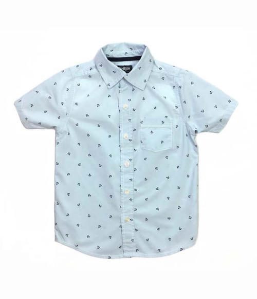 Aqua Anchor Shirt, Little Boys
