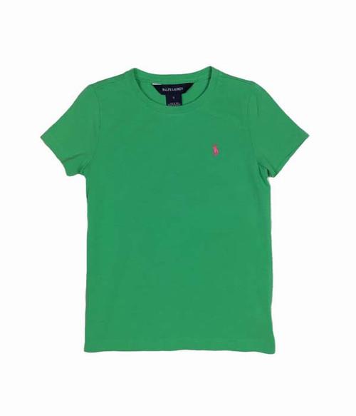 Light Green Tee Shirt, Little Girls