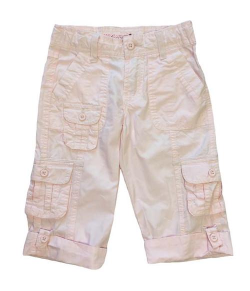 Pastel Pink Bermuda Cargo Shorts,