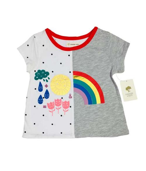 Rainbow Graphic Tee, Toddler Girls