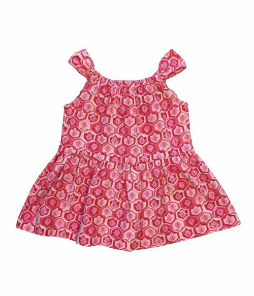 Pink and White Tie-Back Top, Toddler Girls