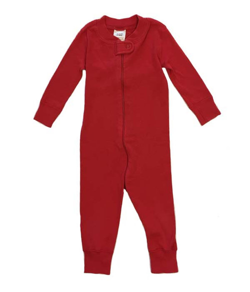 Red One Piece in Organic Cotton, Baby Boys