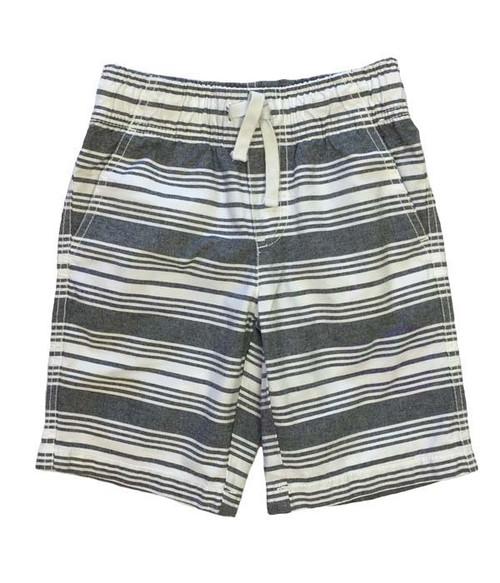 Gray Striped Canvas Shorts, Toddler Boys