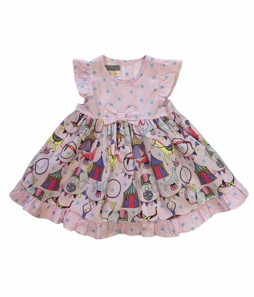 Circus Print Dress, Baby Girls