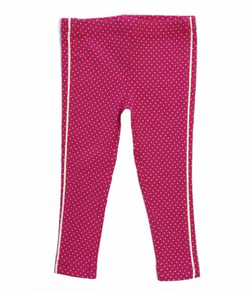 Pink Stripe & Polka Dot Leggings, Baby Girls
