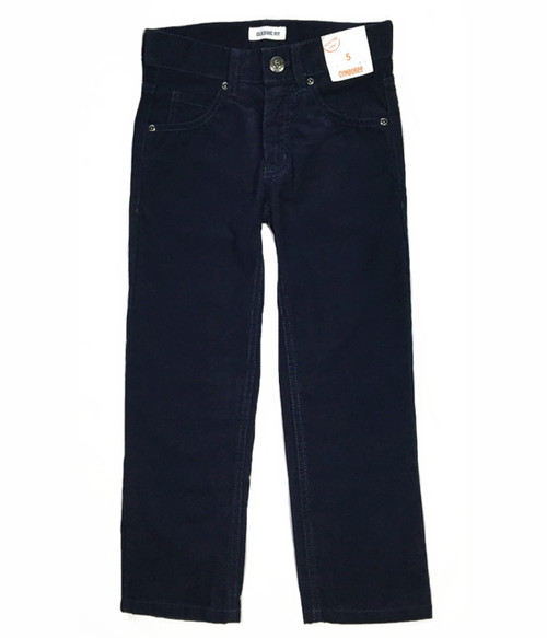 Dark Blue Corduroy Pants, Little Boys