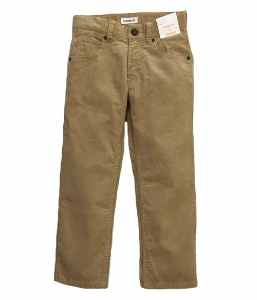 Light Brown Corduroy Pants, Little Boys