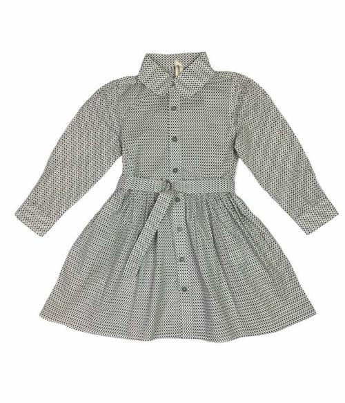 Gray Polka Dot Dress, Toddler Girls