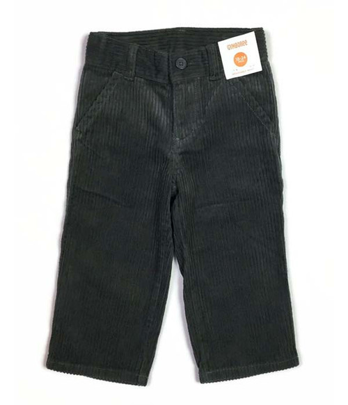Charcoal Gray Corduroy Pants, Baby Boys