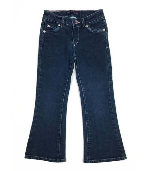 Gemstone Flare Denim Jeans, Little Girls