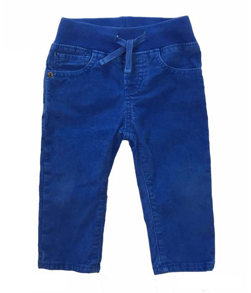 Blue Pull-on Corduroy Pants, Baby Boys