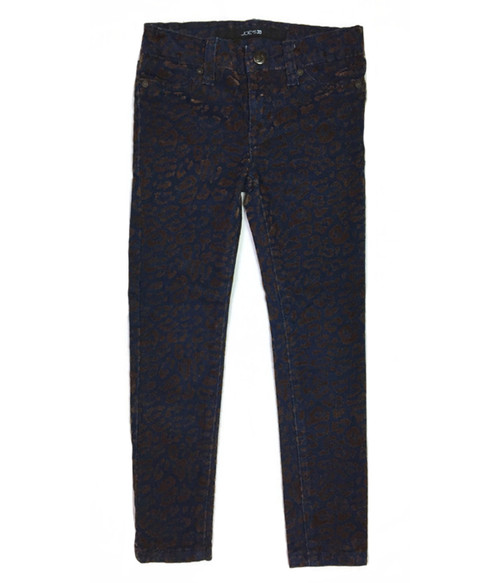 Velvet Leopard Print Jeans, Little Girls