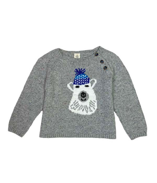 Gray Polar Bear Sweater, Baby Boys