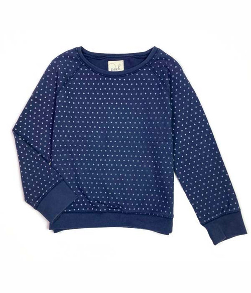 Blue Stars Sweatshirt, Little Girls