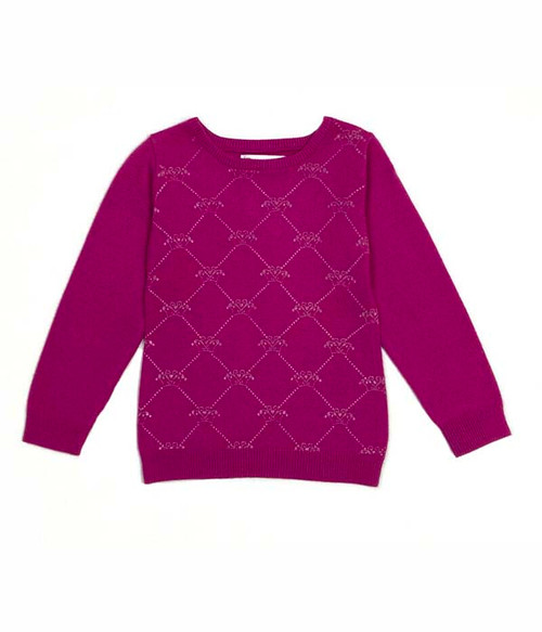 Pink Princess Tiara Sweater, Toddler Girls