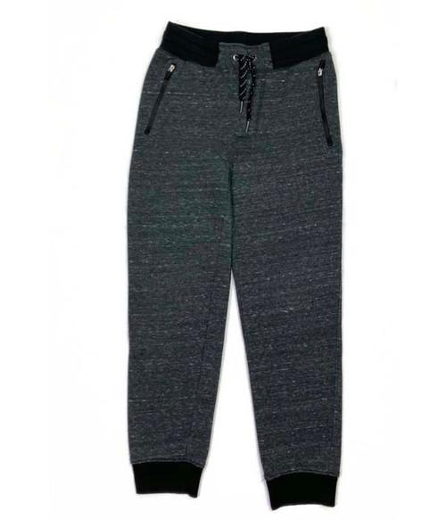 Heather Black Jogger Sweatpants, Big Boys