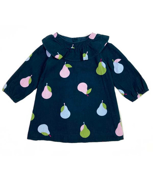 Pear-Print Corduroy Dress, Baby Girls
