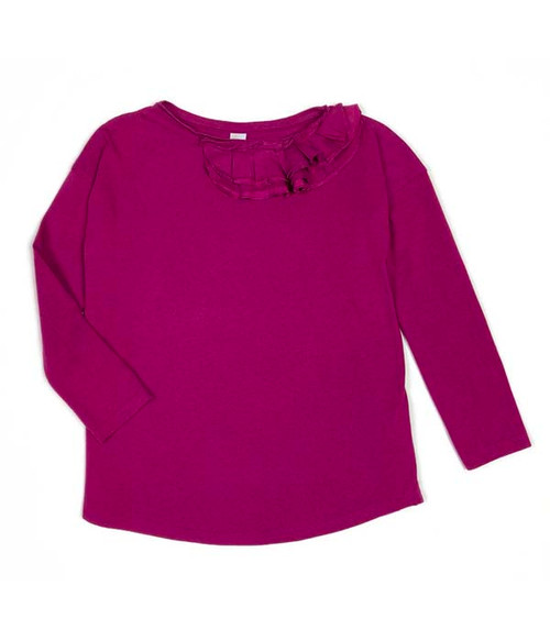 Raspberry Ruffle Top, Little Girls