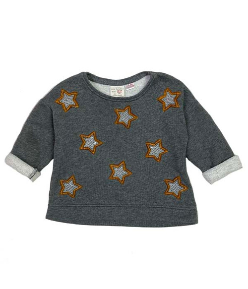 Sequin Stars Sweatshirt, Baby Girls