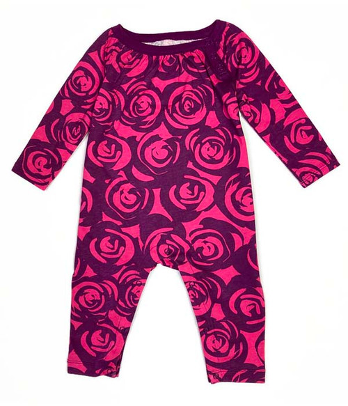 Purple Rose Romper, Baby Girls