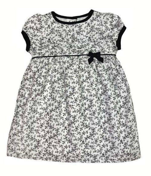 Floral Print Bow Dress, Baby Girls