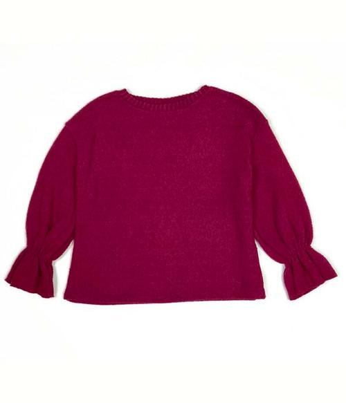 Burgundy Fleece Sweatshirt, Little Girls