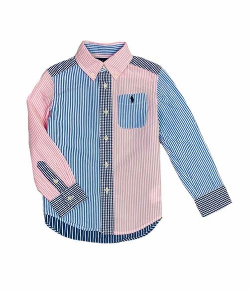 Striped Seersucker Button Front Shirt, Toddler Boys