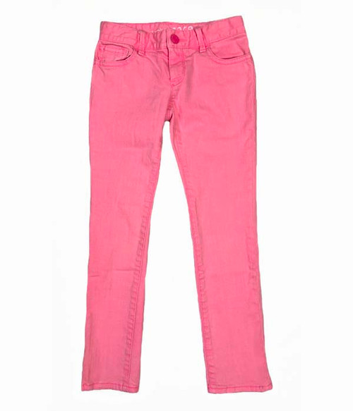 Neon Pink Super Skinny Jeans, Little Girls