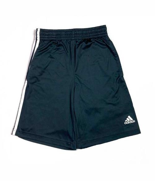 Black Three-Stripe Active Shorts, Big Boys