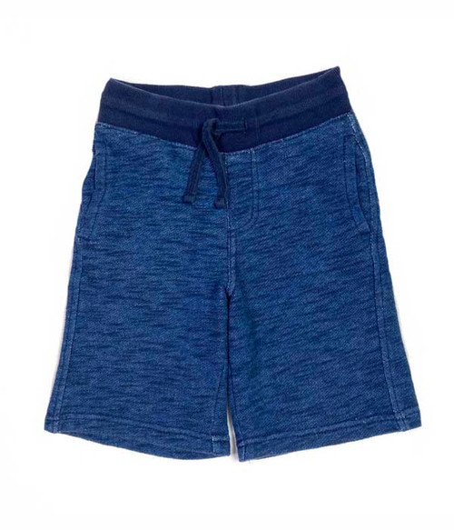 Heather Navy Pull-On Shorts, Little Boys