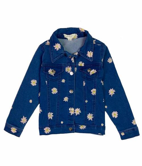 Floral Denim Jacket, Toddler Girls